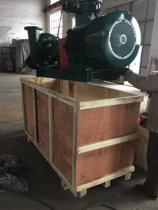 A centrifugal pump send to solid c control system working site