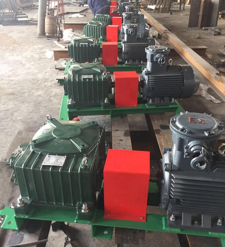 Horizontal drilling mud agitator prepared to shipment