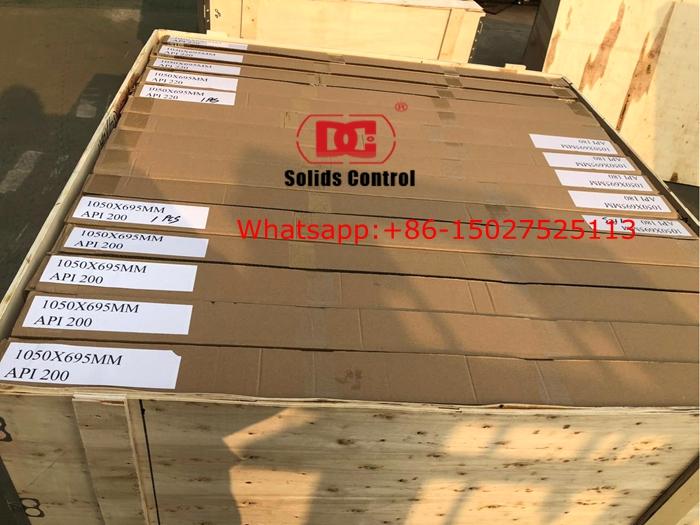 800 PCS 695x1050mm Hookstrip Shaker Screens Shipped to UAE