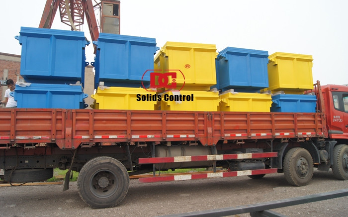 Mud Cutting Skips Shipped To China Domestic Client